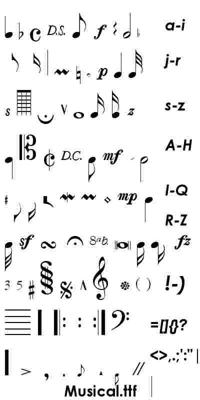 font alphabet notes note musical fonts letters tattoo symbols typography writing ttf lettering symbol intervals musica elementary tattoos musicals theory