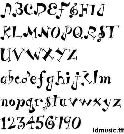Below is a small collection of music fonts. These are all freeware and ...
